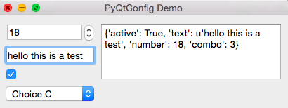 Demo of config setting with widgets #3
