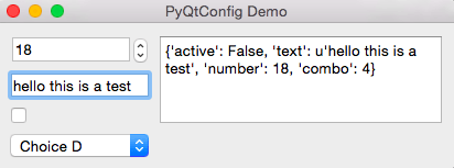 Demo of config setting with widgets #4