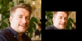 Resizing the input image to 100x60 pixels